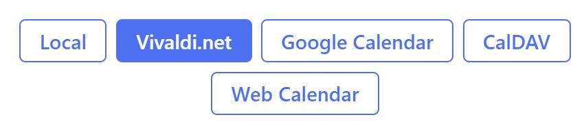 Enter calendar for sharing