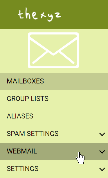 Webmail settings