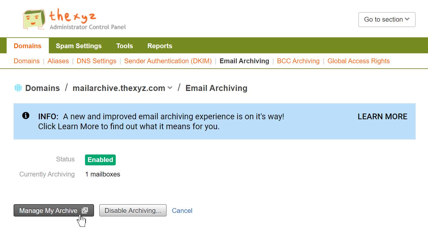 Thexyz Email Admin Portal