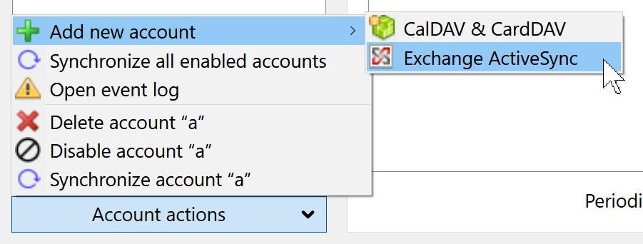 Add ActiveSync for Thunderbird