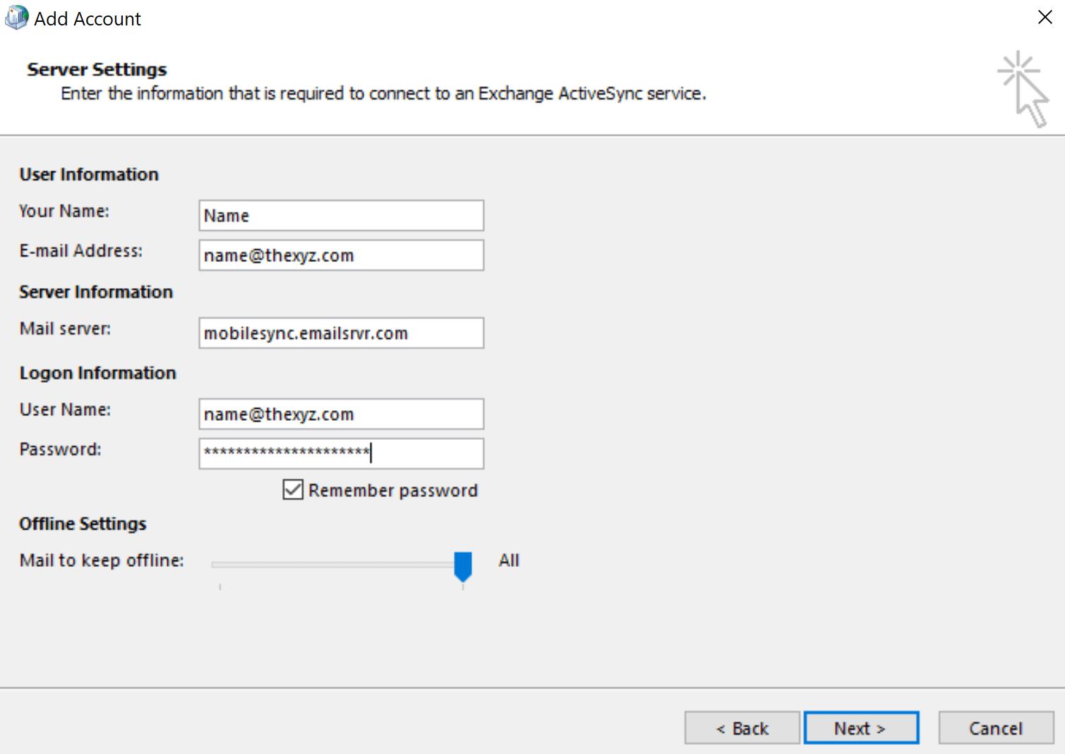 Exchange ActiveSync with Thexyz