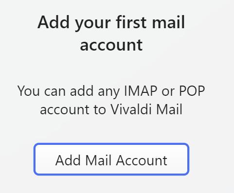 Vivaldi mail config