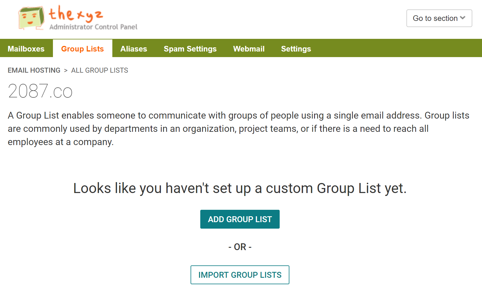 Group Email Lists