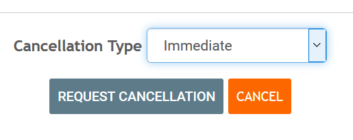 Choose to cancel right away or at end of billing period