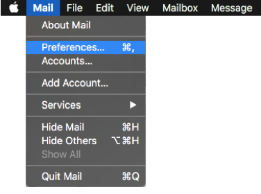 Mail mail preferences